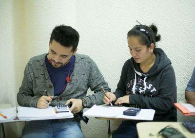 Alumnos de Licenciatura en Contaduría en clase