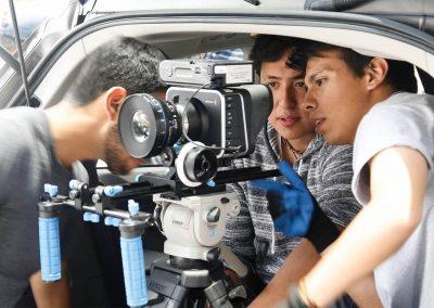 Alumnos camarógrafos Licenciatura en Cine y Televisión Digital